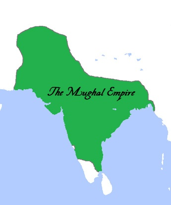 The Mughal Empire was a Persianate empire that ruled large parts of the Indian subcontinent after Babur's victory over Ibrahim Lodi in the first Battle of Panipat (1526). It reached its peak extent under Aurangzeb, and declined rapidly after his death (in 1707) under a series of ineffective rulers. (110-150 mil. people)