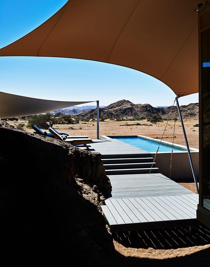 Namibia's Skeleton Coast - The pool at Hoanib