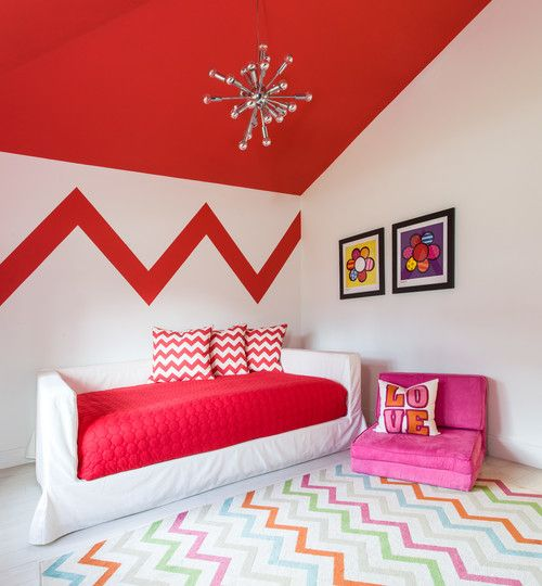 For your nursery, child's room, playroom and home, it's always a beautiful beginning with Chevron wallpaper.