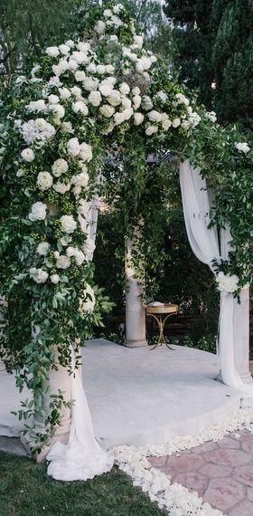 White Wedding! An elegant white arch!