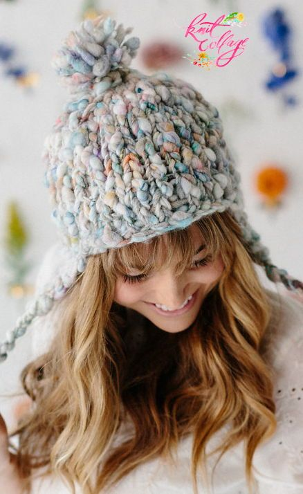 00d9cea4a10 Looking for a quick and easy hat pattern  The Modern Earflap Hat has you  covered! This chunky knit hat pattern is made with just two skeins of our  handspun ...