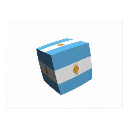 Argentinian flag cubed postcard - postcard post card postcards unique diy cyo customize personalize