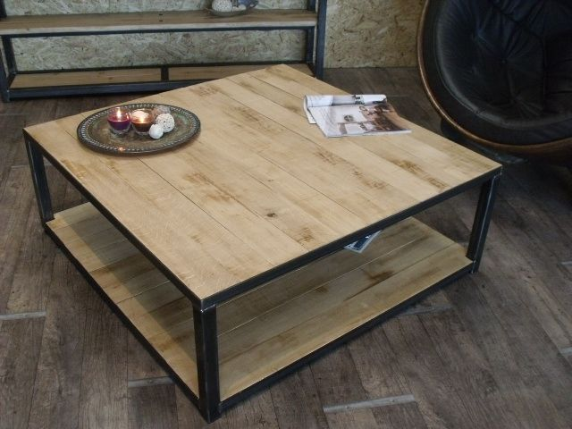 17 best images about incastri legno on pinterest - Table basse bois metal industriel ...
