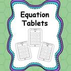 Equation Tables: addition and subtraction practice printables!  Kids will love these technology themed math practice sheets.  Great for homework, independent practice, morning work and more!