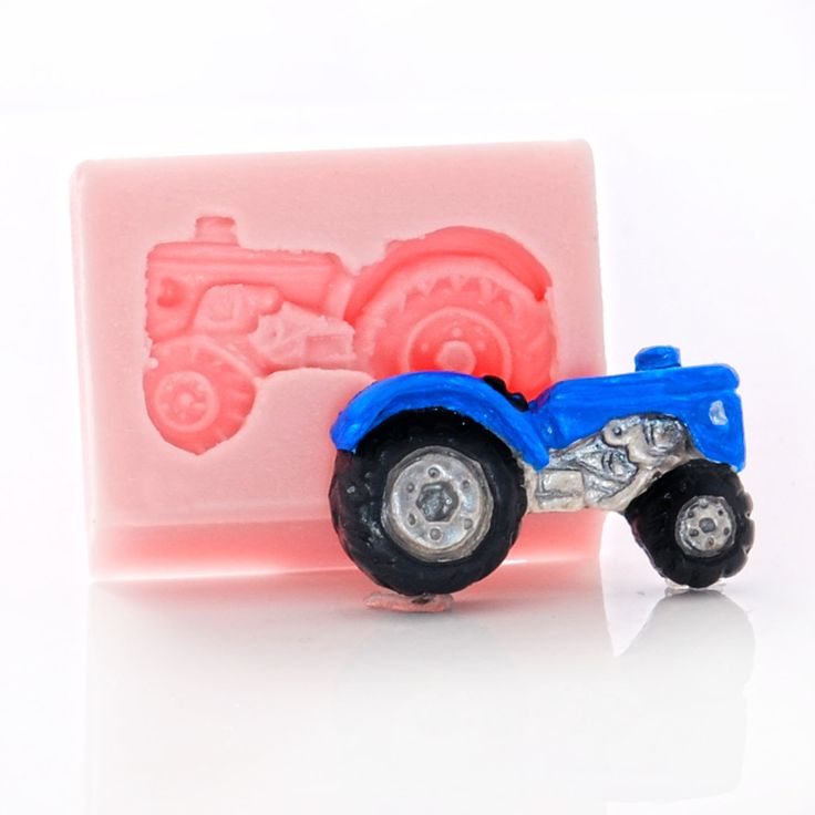 Tractor Mold - Silicone Mold - Mould - Food safe mold - Resin mold - Jewelry mold - Fondant mold - Sugar mold - Flexible mold (805) by MoldMeShapeMe on Etsy