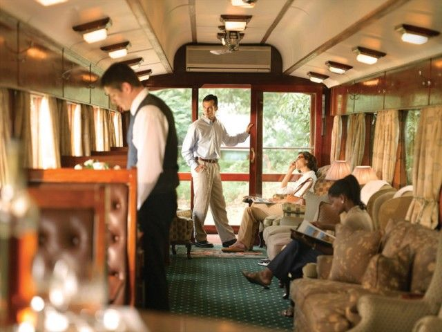 *** Rovos Rail Pretoria to Cape Town Journey *** This popular 48-hour weekly Rovos Rail journey between Pretoria and Cape Town provides the traveller with a great opportunity to explore the beauitful landscapes of South Africa including the Cape Winelands, the Karoo, the 'Big Hole' in Kimberley where a visit to the Diamond Museum is included as well as the bustles of Pretoria and Cape Town itself.   http://www.south-african-hotels.com/tours/rovos-rail-pretoria-cape-town/
