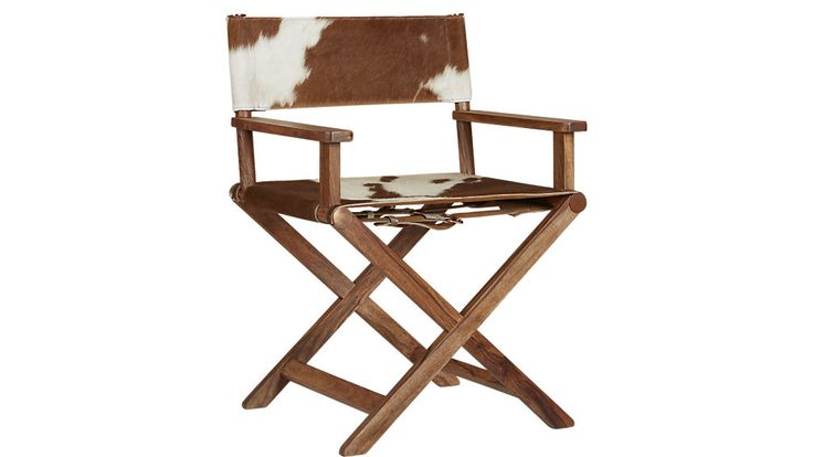 curator cowhide director's chair