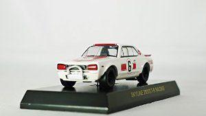 Kyosho 1/64 NISSAN SKYLINE MiniCar Collection SKYLINE 2000GT-R RACING No 6 Mini Diecast Racing Car Figure White & Red