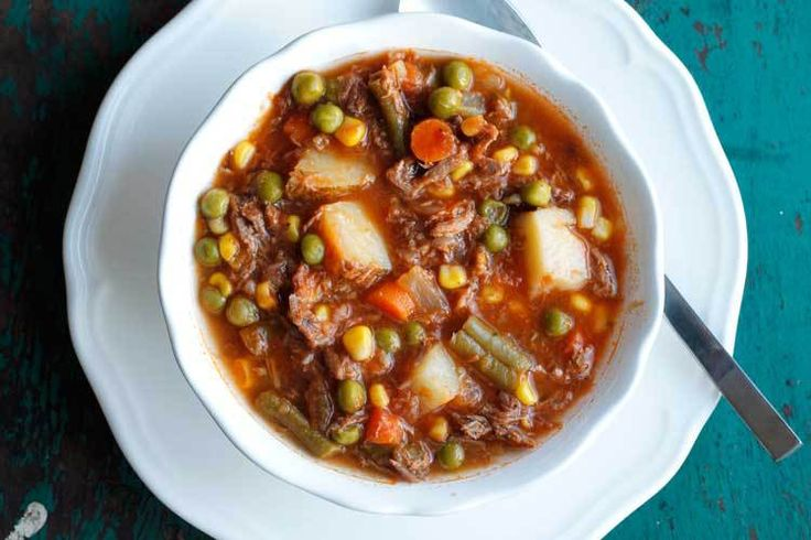 My Mom S Old Fashioned Vegetable Beef Soup Recipe