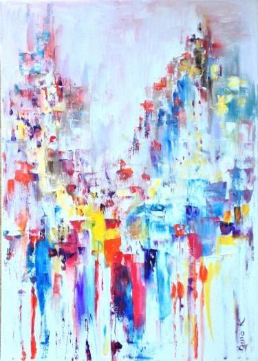 """Saatchi Art Artist Konrad Biro; Painting, """"Sky city...."""" #art"""