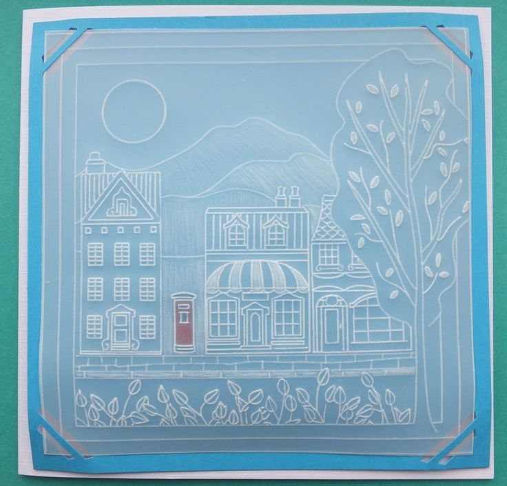 Wee houses baby plate and landscape plate Groovi card created by Mary Brightmore