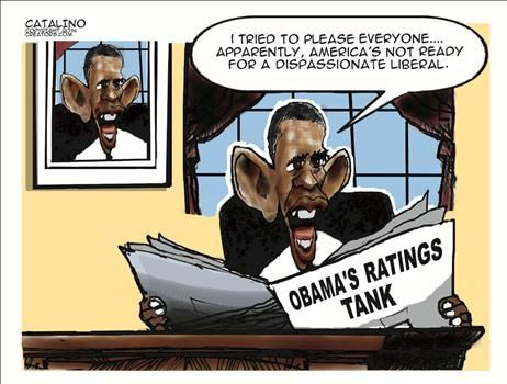 POLITICALLY INCORRECT CARTOONS: Obama's Ratings Tank