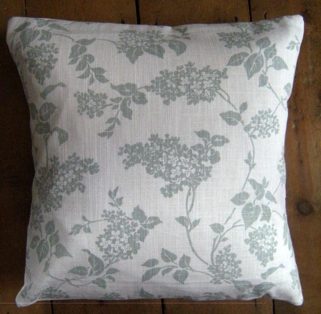 Cushion Cover Lilac Eau de Nil Floral Pattern Laura Ashley Fabric 16  x 16