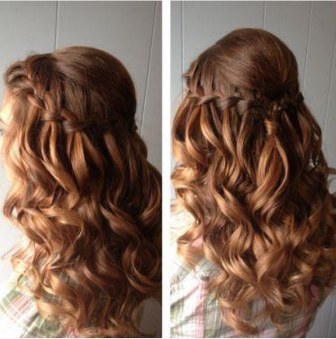 Red Hair Waterfall Curly Hair Braid Plait Braided Down