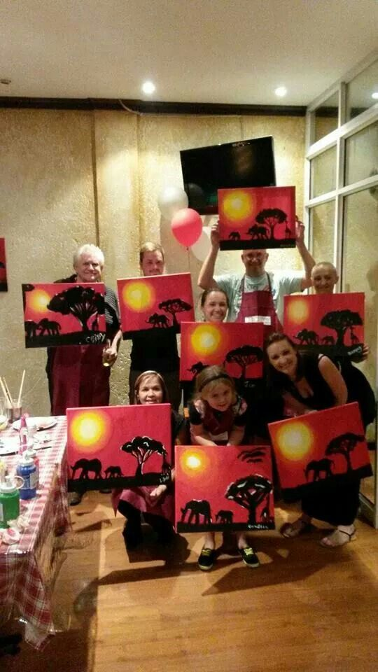 Dads birthday painting fun