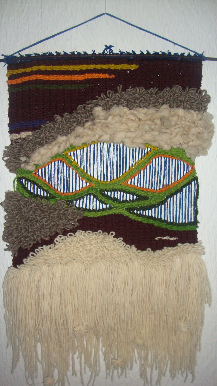 tapiz hecho en telar básico,