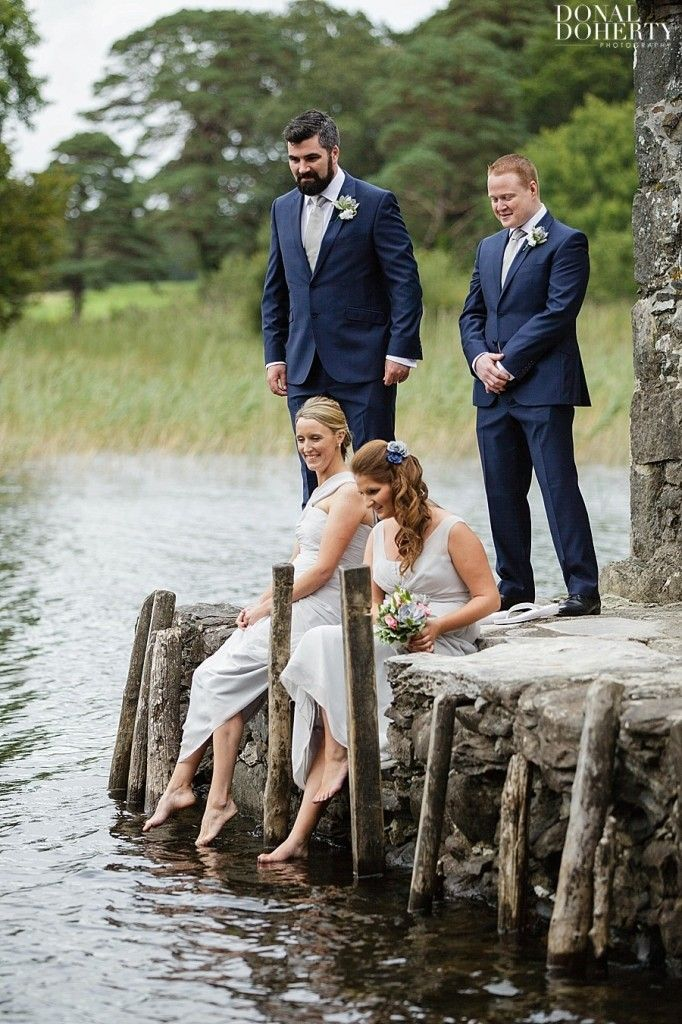 Bride & Bridegroom picture zith best man and bridesmaid at MUCKROSS PARK HOTEL, KILLARNEY
