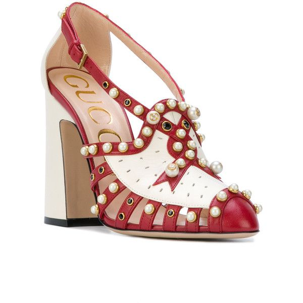 cfee1f093759 Gucci Red Pearl Studded Tracy 110 pumps ( 2
