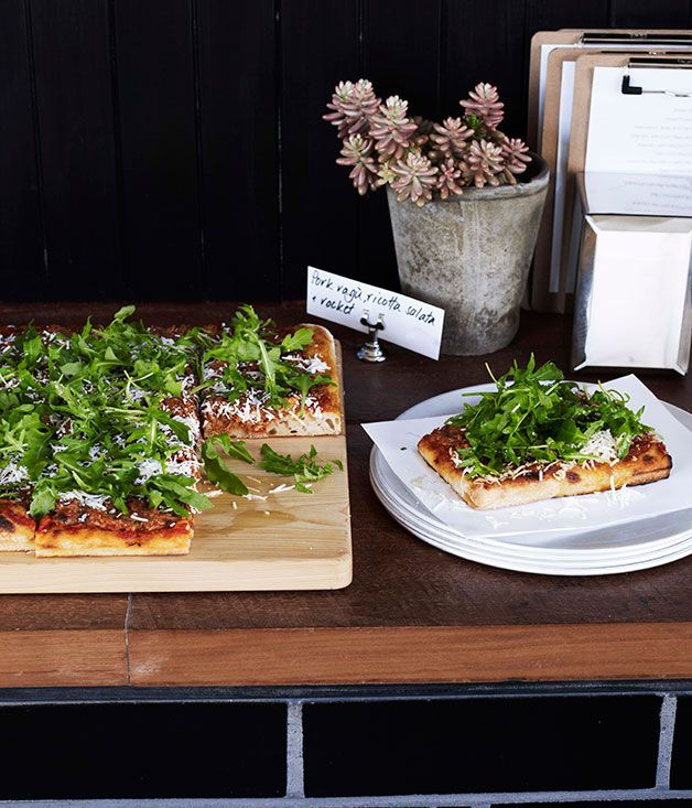 Australian Gourmet Traveller recipe for pork ragu pizza from Cipro in Sydney.