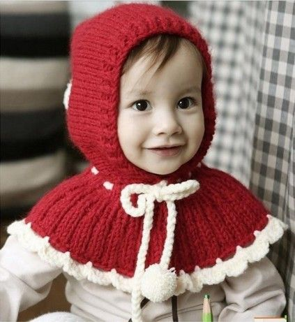 Red Baby Knitted Winter Cap with Scarf. #babywinterscraf #knittedwintercaps #woolenhats #babywinterwear #babywintercaps #babycapsindia #pinkblueindia #onlinestore