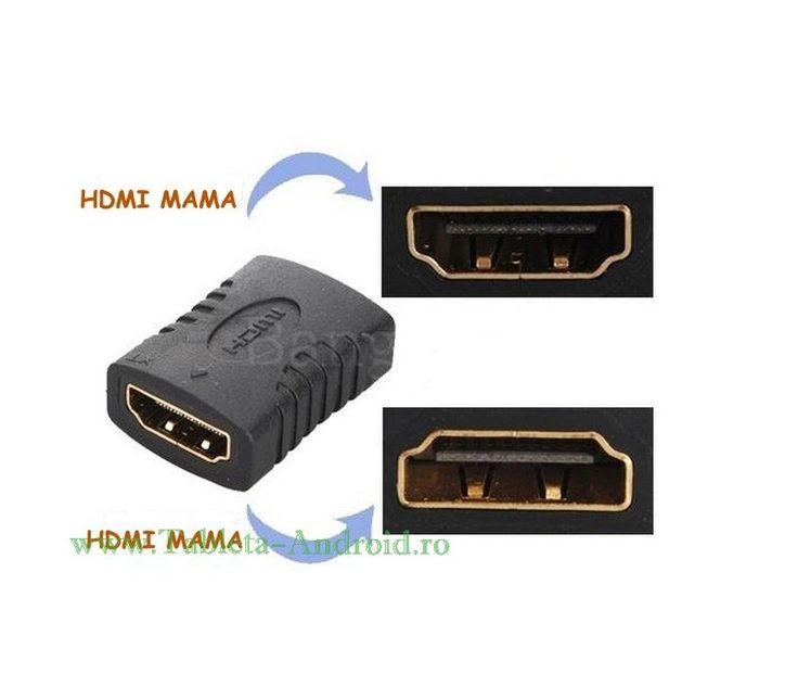 Adaptor de imbinare HDMI - https://www.tableta-android.ro/accesorii-tableta/p-adaptor-de-prelungire-hdmi-hdmi-mama-to-hdmi-mama.html#Accesorii #tableta #adaptor #hdmi #prelungire #tv