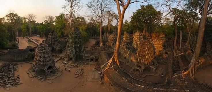 Ta Prohm temple, Angkor, Cambodia - AirPano.com • 360° Aerial Panoramas • 360° Virtual Tours Around the World