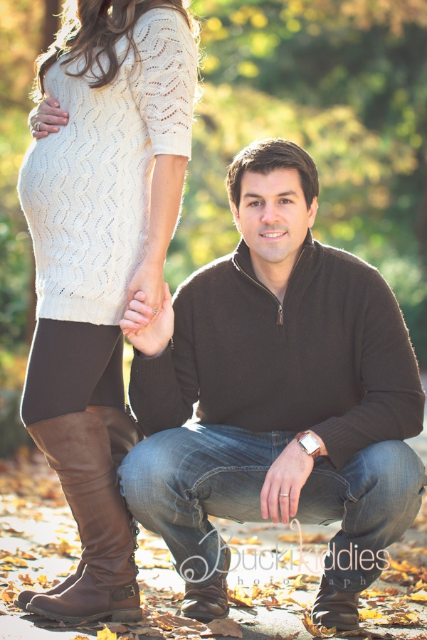 Favorite Couples Maternity Pose ~ but instead, bending down to pic a flower! Yes yes!!