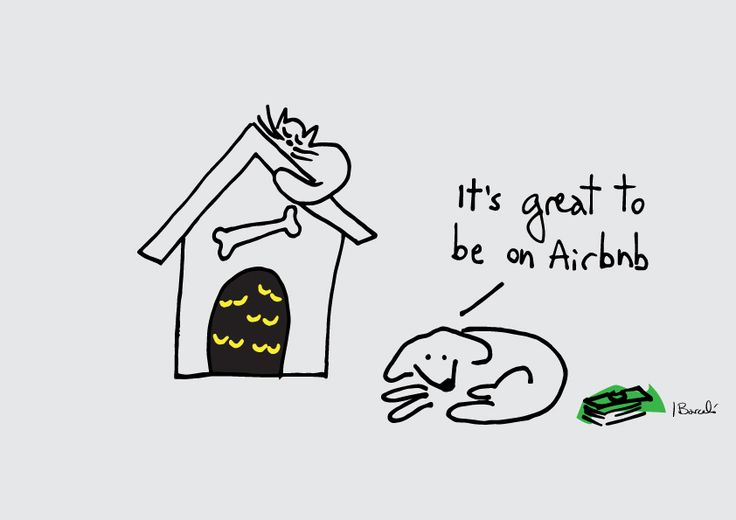 Airbnb - Ignacio Barcelo #dogs #illustration #cartoon #airbnb