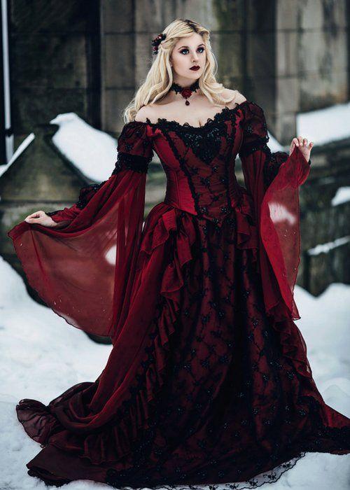 boda gótica: ideas para vestidos de novia góticos【fotos】 | ropa