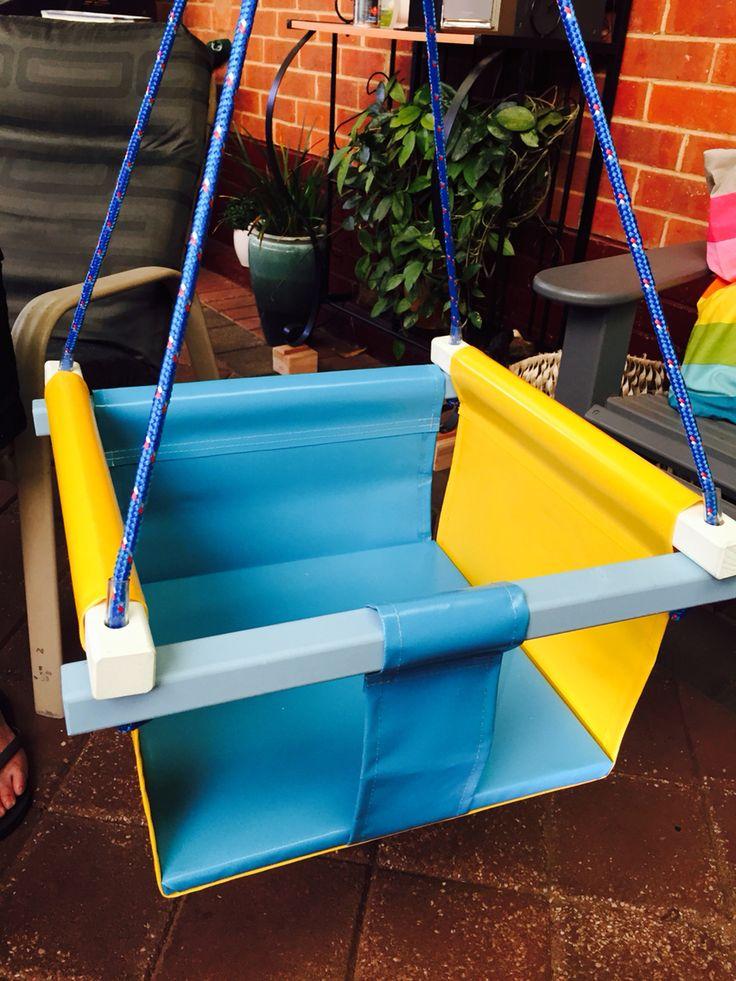 Single PVC bucket seat swing   Find us Facebook