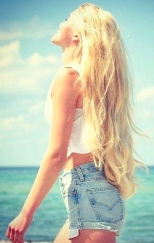 long blonde hair. pretty