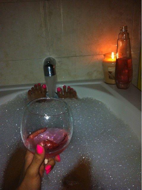 Bubble Bath Candles and Bath | bubble bath + wine ...