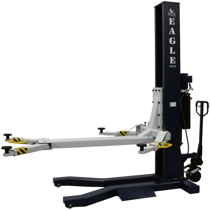 6,000 lbs Single Post Lift: Automotive Shop Equipment - Eagle Equipment