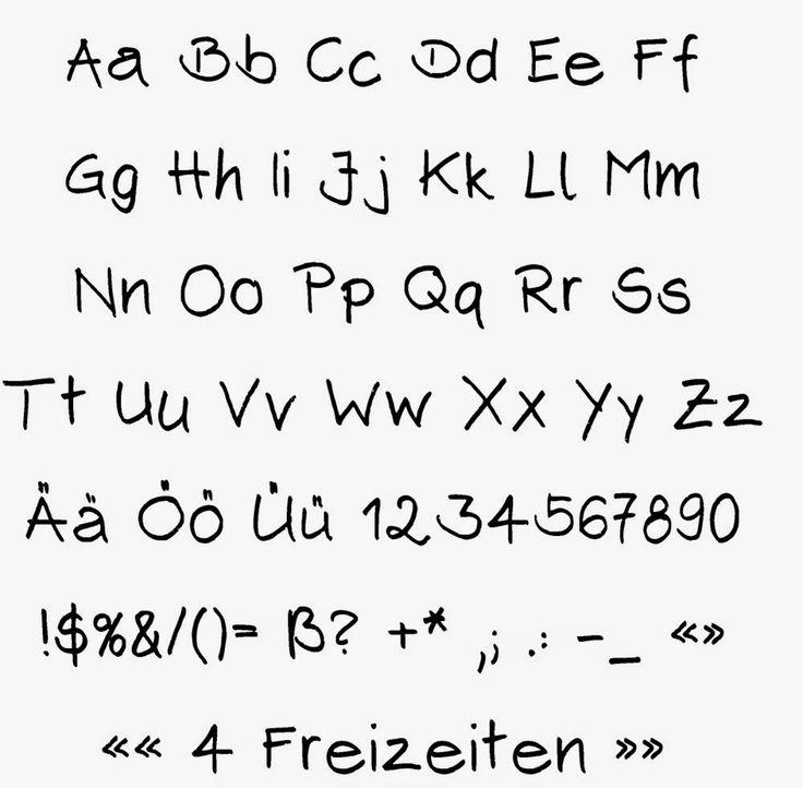 4 Freizeiten: Wie meine Handschrift in den Computer kam (Font erstellen)