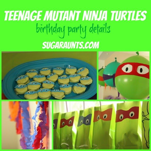 Teenage Mutant Ninja Turtle party ideas, food, activities, decorations, and favor ideas | Sugar Aunts #birthdayparty #TMNT #birthday