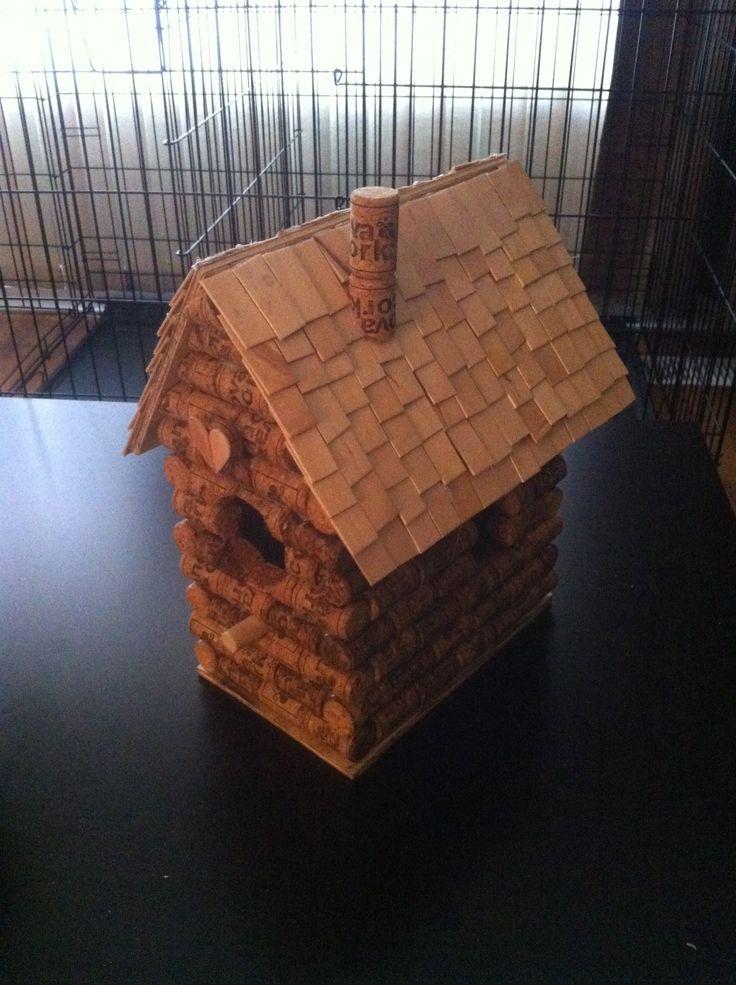 Andrea's Wine cork Birdhouse