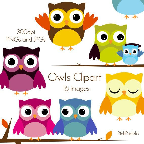 Clip Art Picutres, Clipart, Clip Art, Owls Clipart Owls Clip Art  Commercial and Personal by PinkPueblo, $6.00