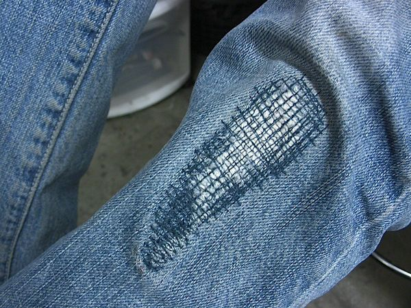 How To: Patching Pants with Stylish Stitches