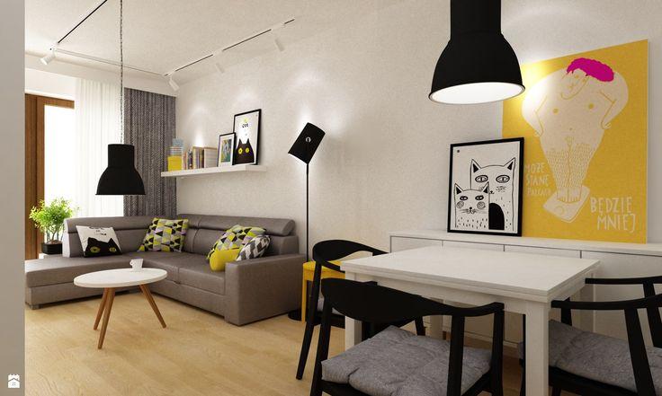 Salon styl Skandynawski - zdjęcie od Grafika i Projekt architektura wnętrz - Salon - Styl Skandynawski - Grafika i Projekt  architektura wnętrz
