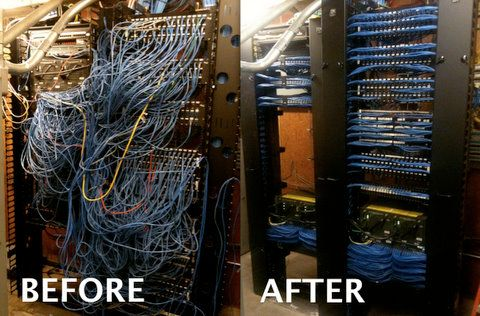 Cleaning up a cable rack. Holy crap they did a great job!