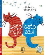 Gato rojo, gato azul / Jenni Desmond. Gato Rojo quiere ser tan inteligente como Gato Azul. Gato Azul sueña con ser tan ágil como Gato Rojo. Pero, ¿de qué color es la felicidad? Los dos gatos que protagonizan esta historia están dispuestos a hacer las cosas más extrañas para parecerse al otro.