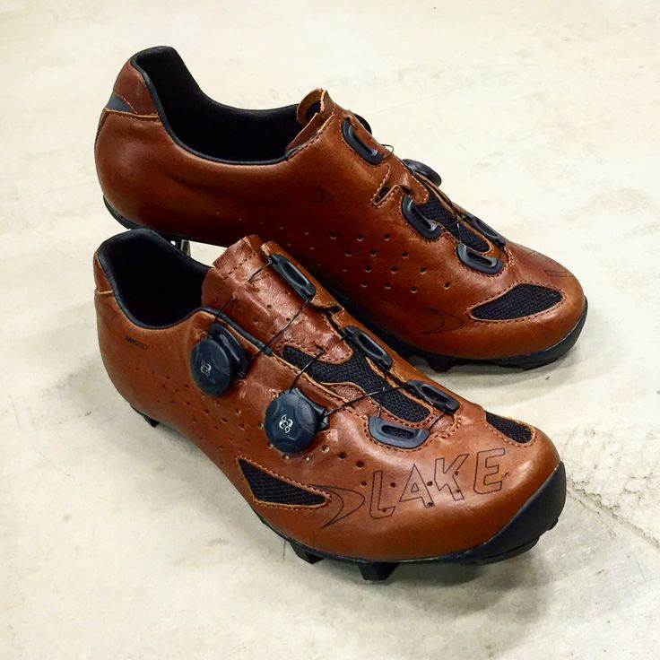 Brown Leather Cycling Shoes