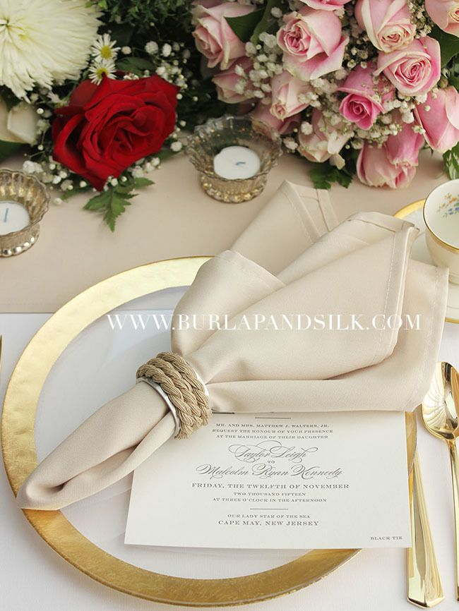 Champagne Napkins For Weddings Matte Restaurants And Hotels Whole Cloth