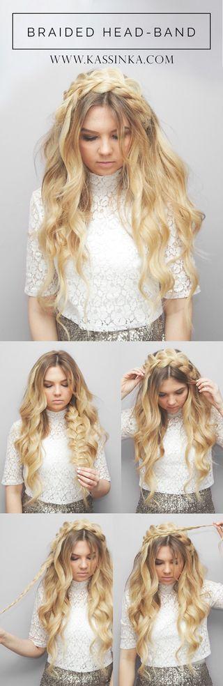 Pretty Braided Crown Hairstyle Tutorials and Ideas / http://www.himisspuff.com/easy-diy-braided-hairstyles-tutorials/58/