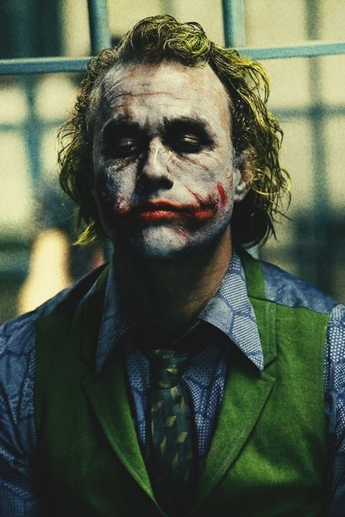 Heath Ledger as The Joker. The Dark Knight (2008)
