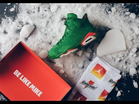 4fbe91b6fcb9 Updated Jordan 6 Green Gatorade HD Unboxing Review!!