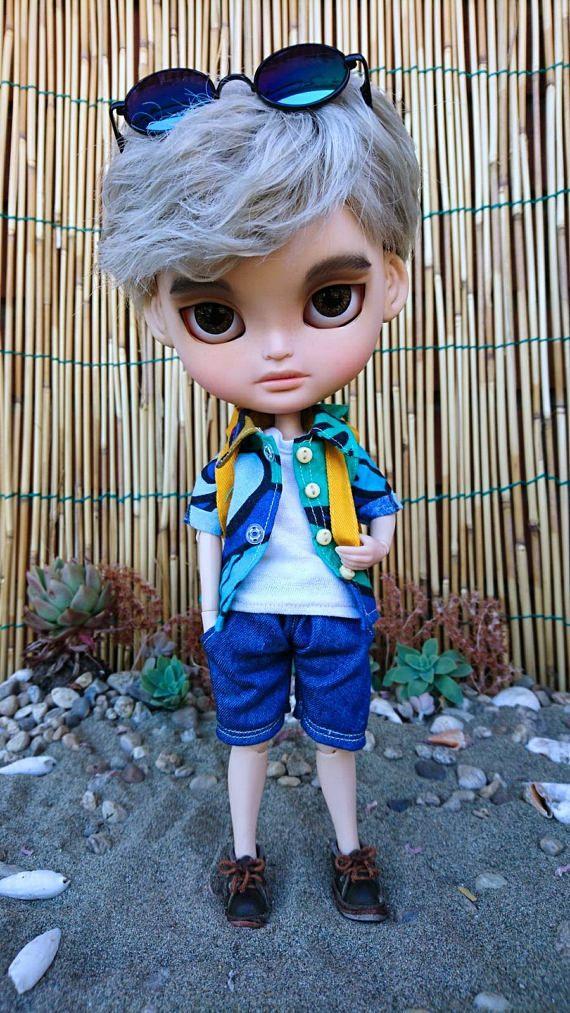 Guarda questo articolo nel mio negozio Etsy https://www.etsy.com/it/listing/522302616/blythe-boy-clothes-summer-wear
