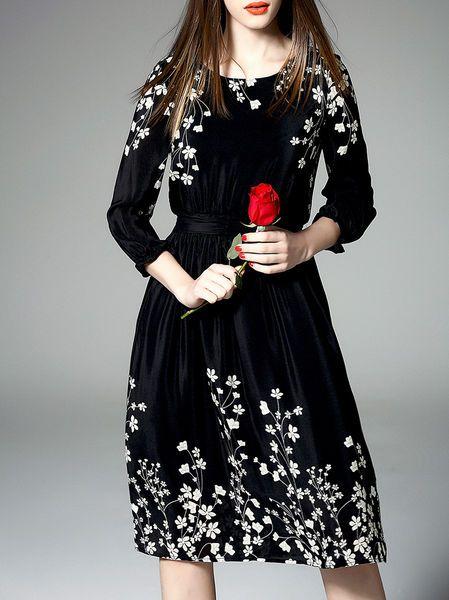 Floral-print Cotton #Midi #Dress