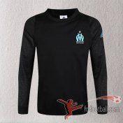 Promo: Sweatshirt Training Olympique De Marseille Nouveau 2016 2017 Champions League Velours Noir -Fr-Football