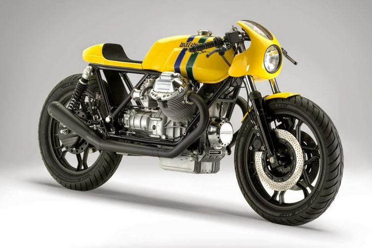 "Moto Guzzi Le Mans ""The Senna Tribute Bike"" by WalzWerk Racing"